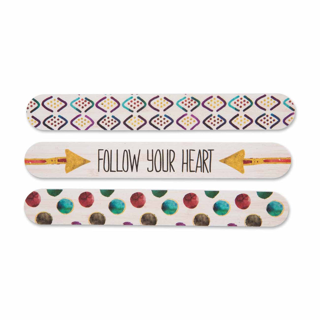 Follow Your Heart Arrow Emery Board