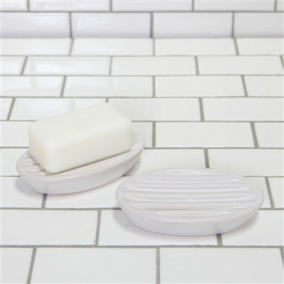 Luna Ceramic Soap Dish - Matte White