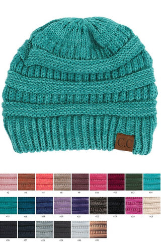 Mix Color Knitted CC Hat