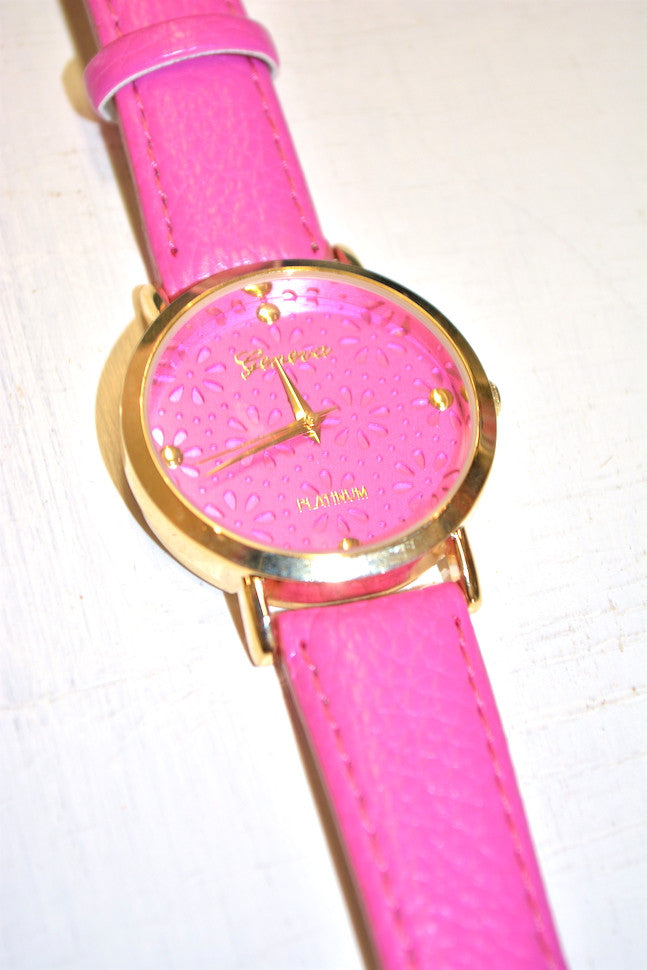 Miss Daisy Watch in Pink