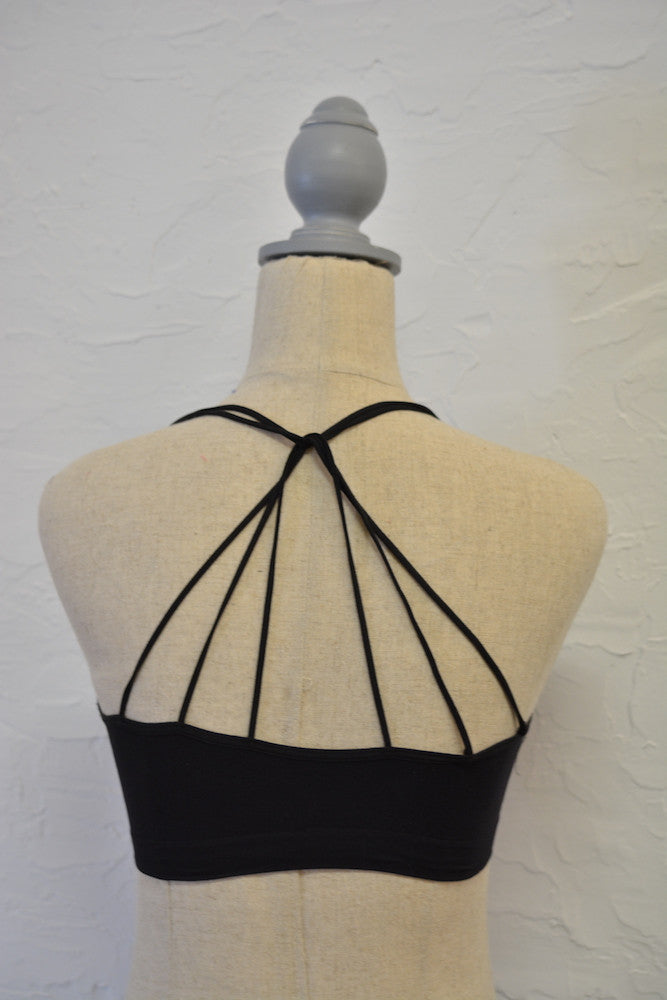 Criss Cross Halter Bra
