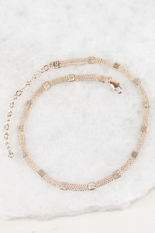 Elegant Chain Choker - Rose Gold