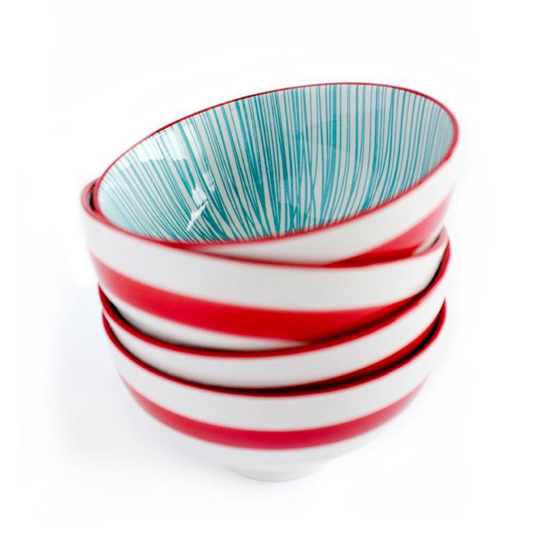 Urchin Turquoise/Red Bowls