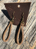 Xander: Leather Drop Loop Earrings