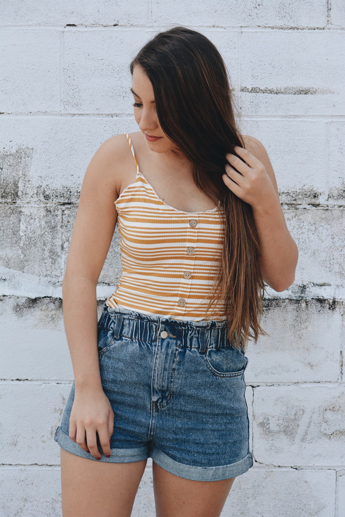 Carry On Crop Top - Mustard