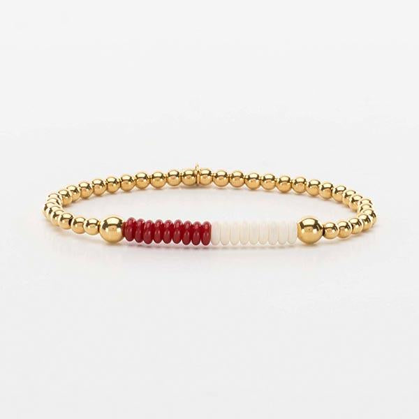 Liz Collegiate Crimson/White - Gold