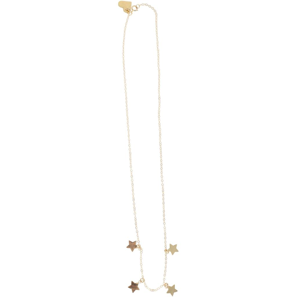 Short Spaced Stars Necklace