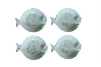 Ceramic Fish Dish Set of 4