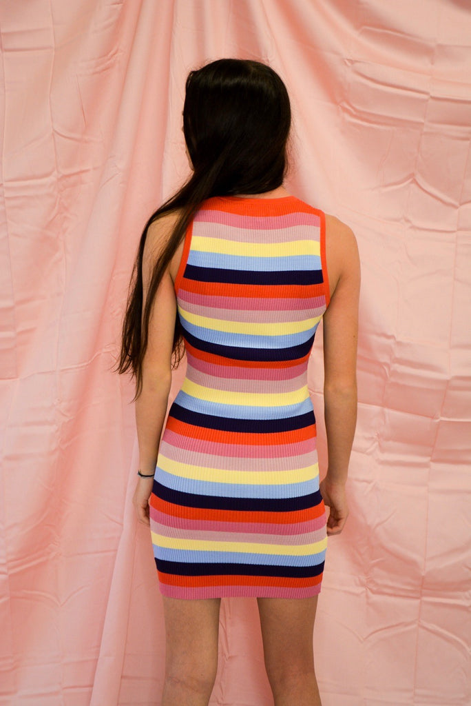 The Multi Striped Bodycon Dress