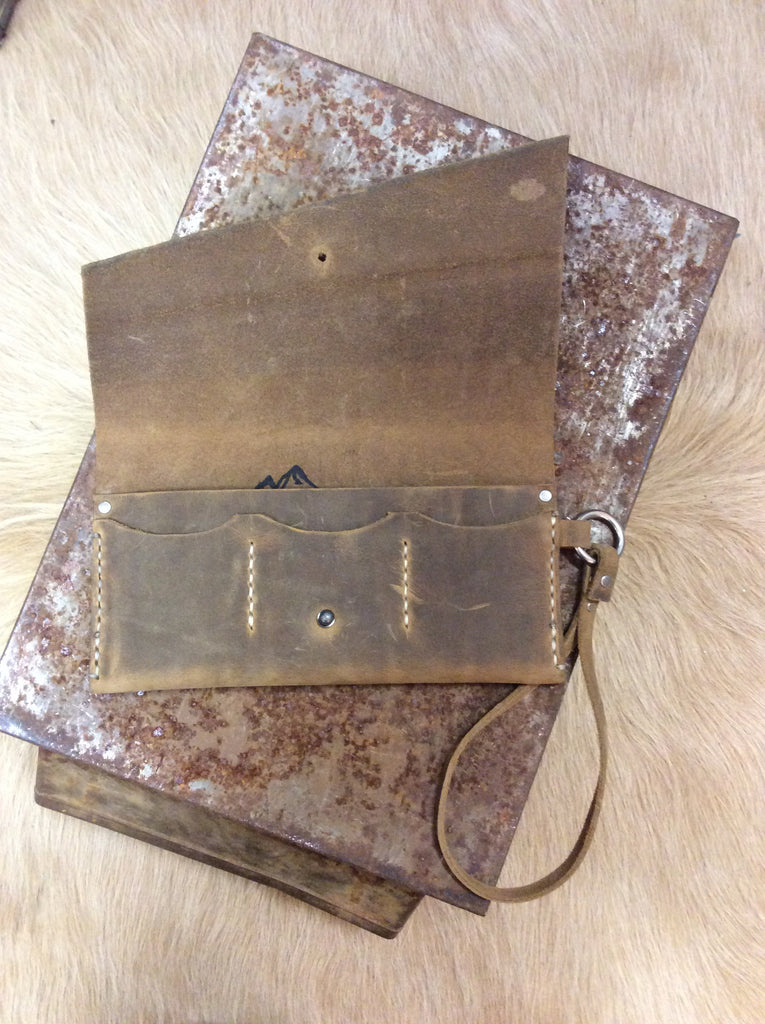 Xander Leather Wristlet