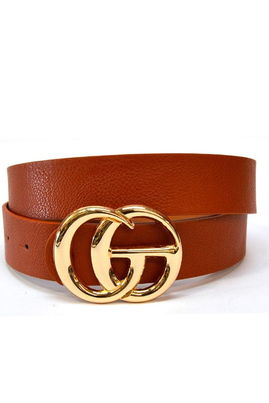 The Abby Designer Inspired Tan Belt
