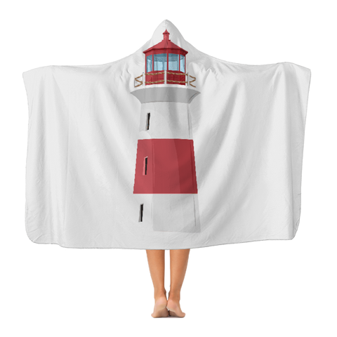 Lighthouse Classic Adult Hooded Blanket