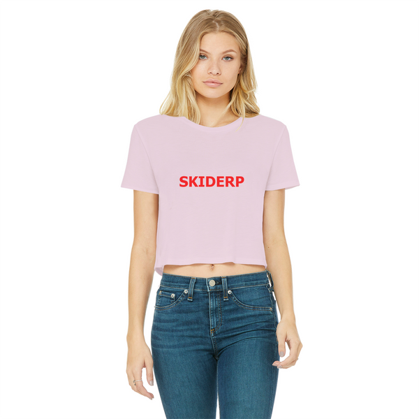SKIDERP Classic Women's Cropped Raw Edge T-Shirt