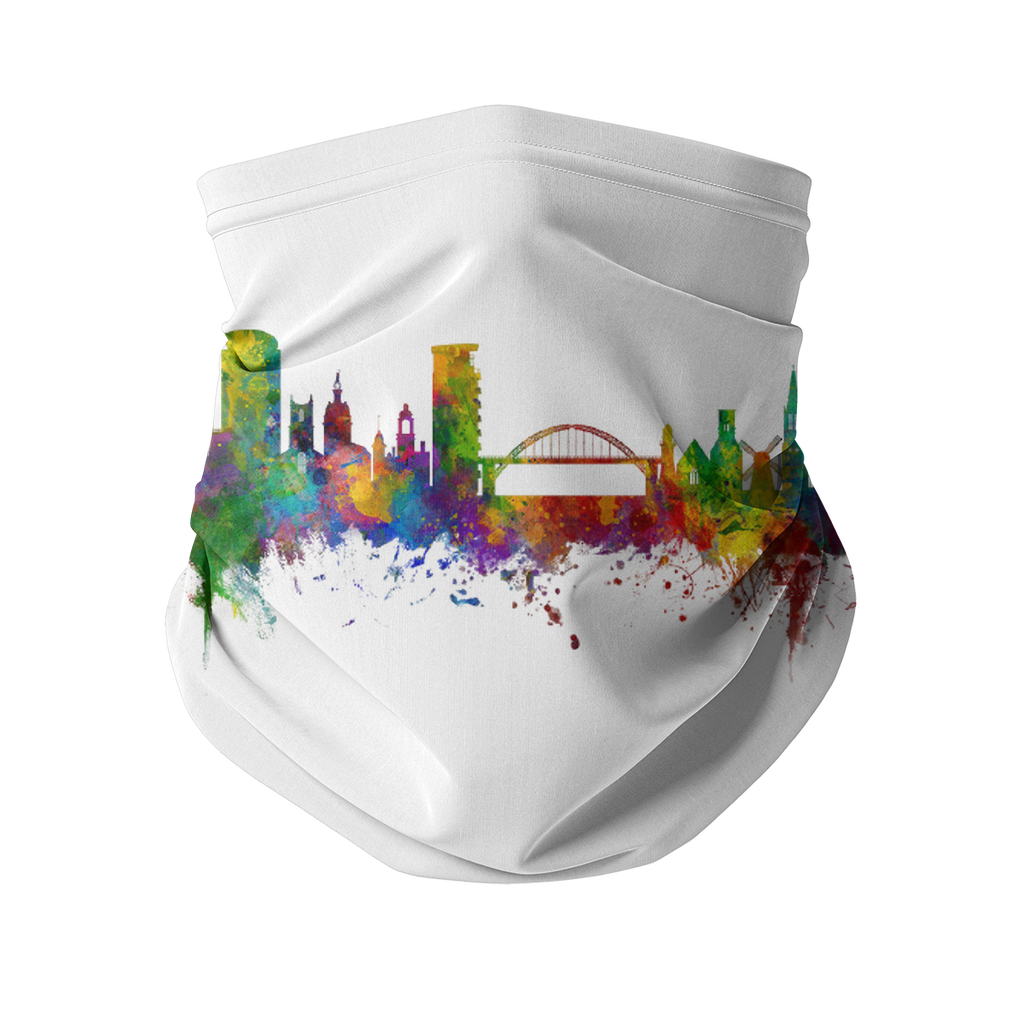 Cityscape Colour Splash Neck Gaiter
