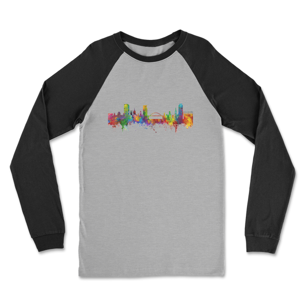 Cityscape Colour Splash Classic Raglan Long Sleeve Shirt