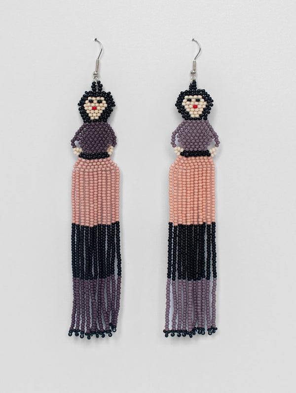 Beaded Doll Earrings