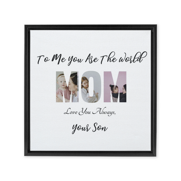 Mom from Son Framed Canvas Wraps
