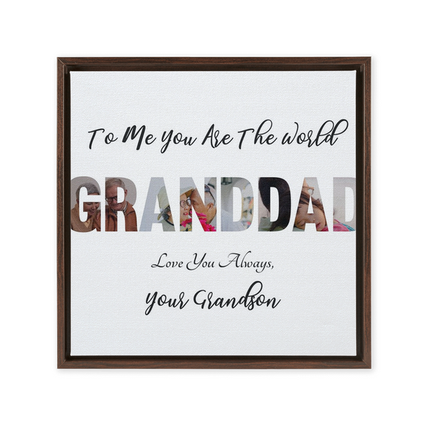 Granddad from Grandson Framed Canvas Wraps