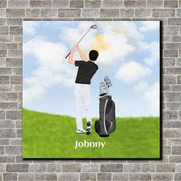 Golfers Canvas Art