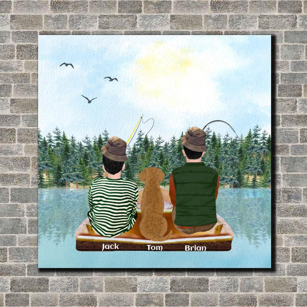 Fishing Family Canvas Art