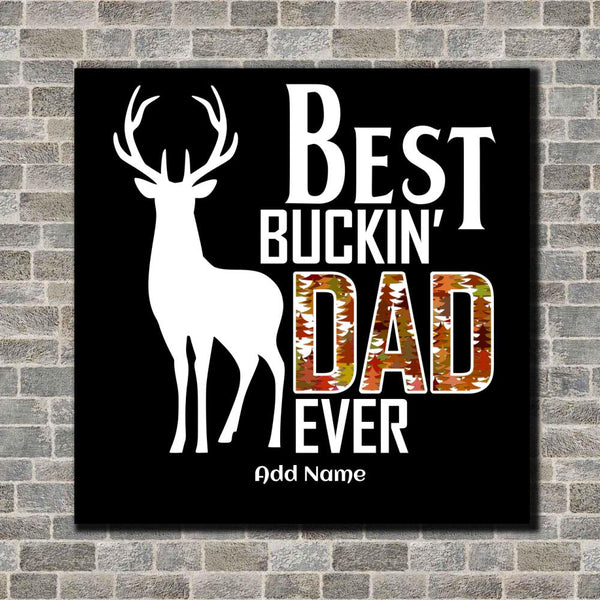 Best Buckin' Dad Canvas