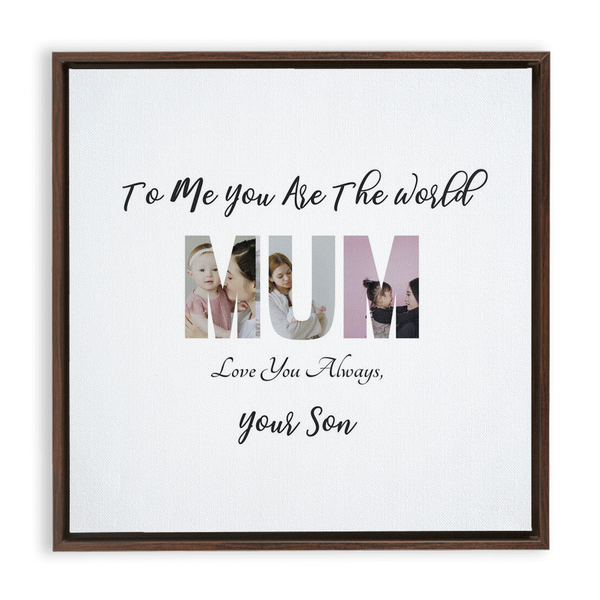Mum from Son Framed Canvas Wraps