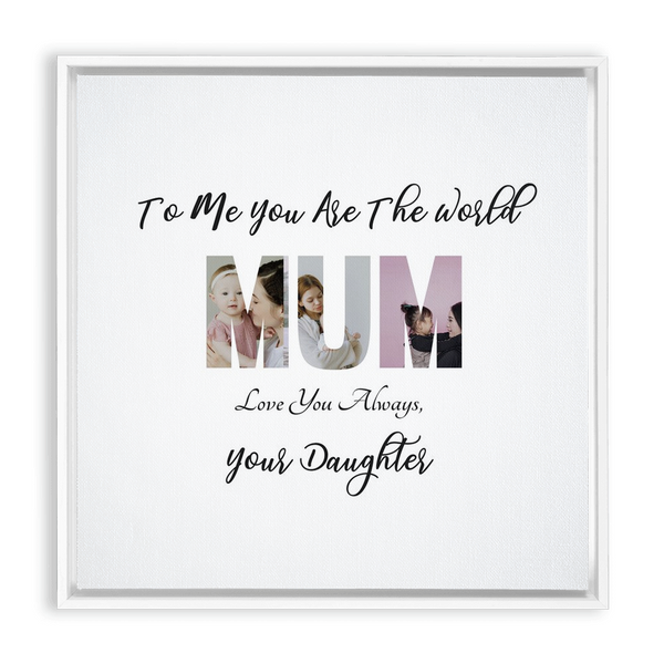 Mum Framed Canvas Wraps