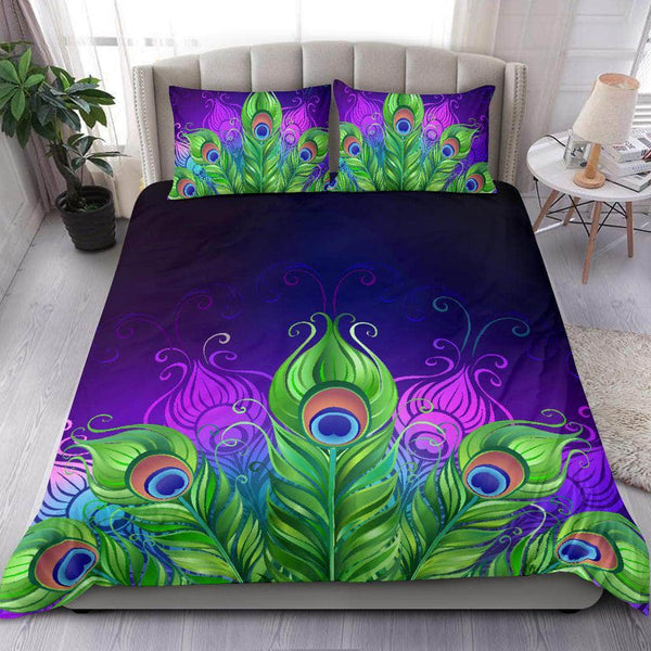 Peacock Feathers Bedding Set