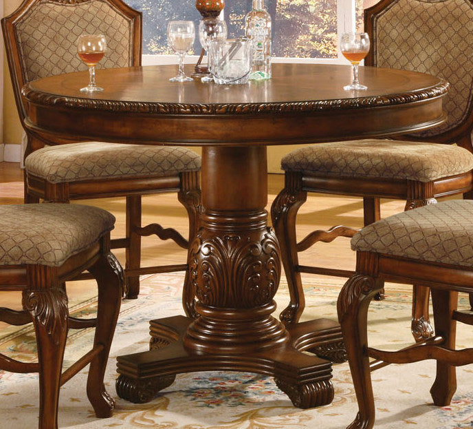 Acme Chateau De Ville Round Counter Height Pedestal Table in Cherry 04082 image