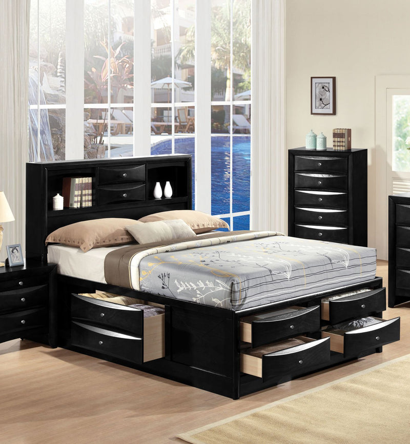 Acme Ireland King Storage Bed in Black 21606EK image