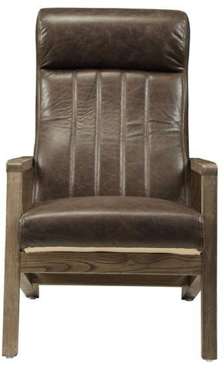 Acme Emint Accent Chair in Distress Chocolate 59534 image