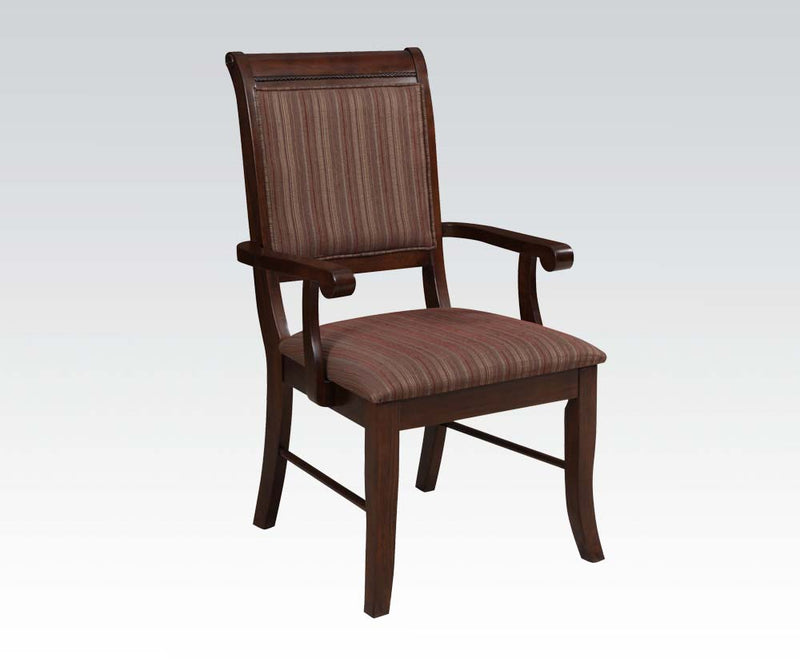 Acme Furniture Mahavira Arm Chair in Espresso (Set of 2) image