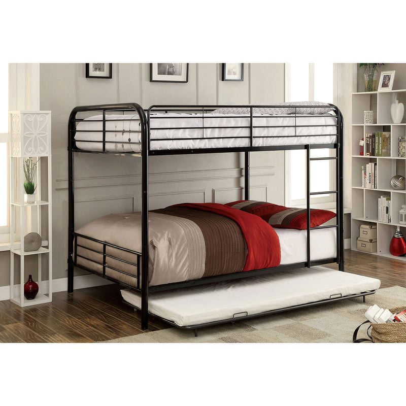 BROCKET Black Metal Full/Full Bunk Bed image