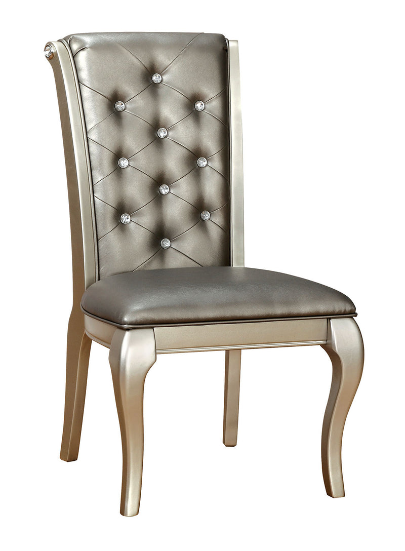 AMINA Champagne Side Chair (2/CTN) image