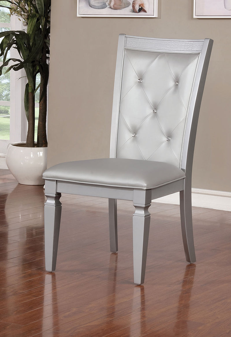 Alena Silver SIDE CHAIR (2/CTN) image