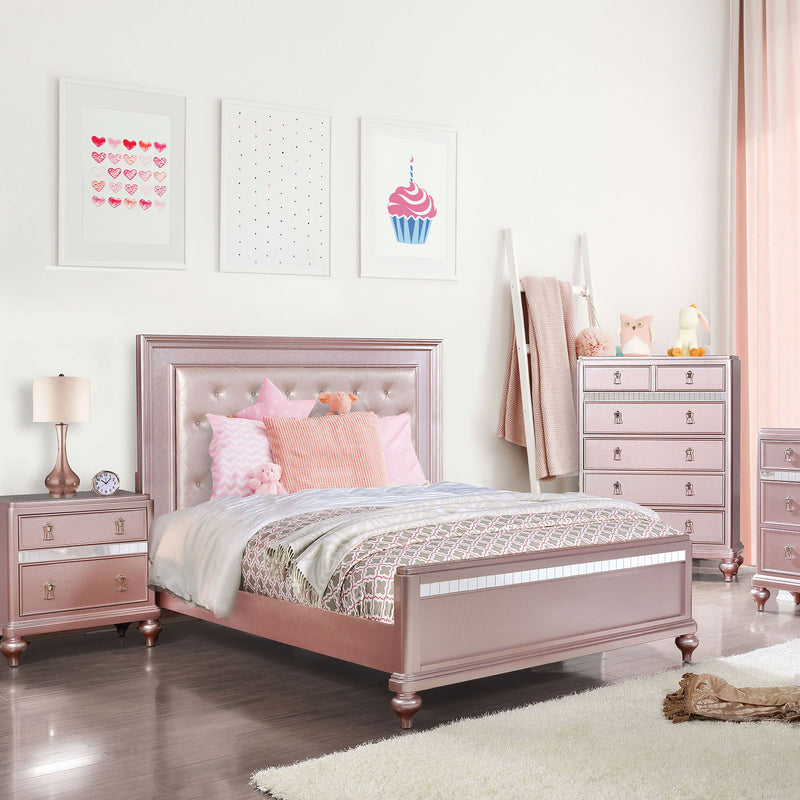 Ariston Rose Pink Queen Bed image