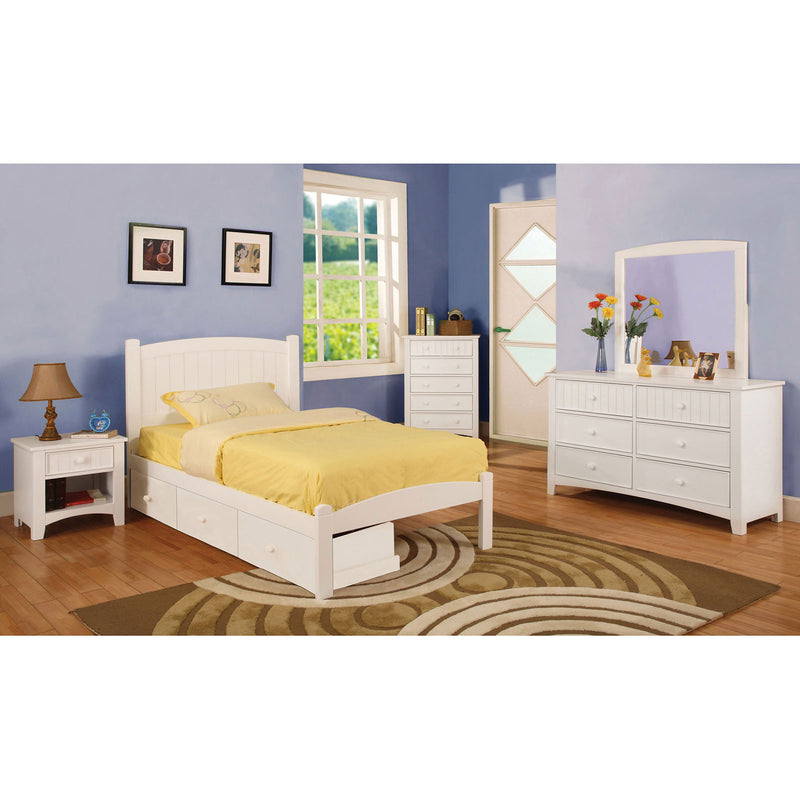 Caren White 4 Pc. Twin Bedroom Set image