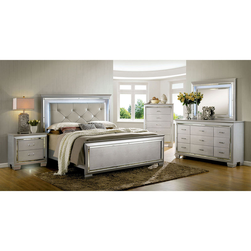 BELLANOVA Silver 5 Pc. Queen Bedroom Set w/ 2NS image