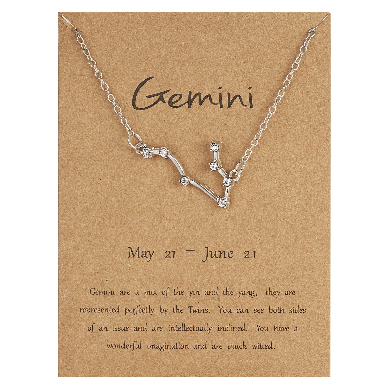 Zodiac Jewellery UK - Gemini Necklace