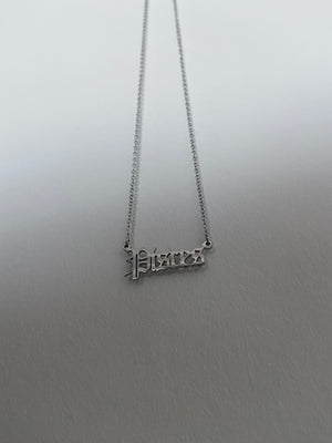 Pisces Old English Necklace