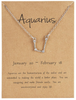 Zodiac Jewellery UK - Aquarius Necklace