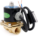 Heschen Brass Electric Solenoid Valve 1/2 Inch Direct Action Water Air Gas Normally Closed Replacement Valve