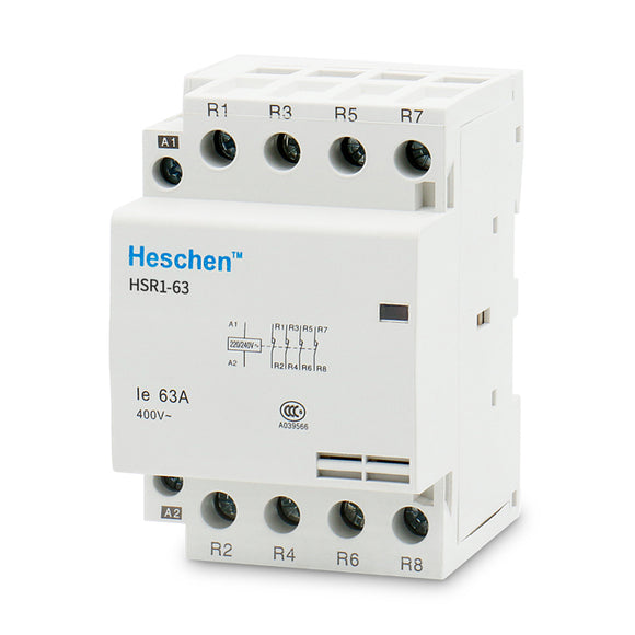 Household AC Contactor HSR1-63 63A 4P NC Normally Closed