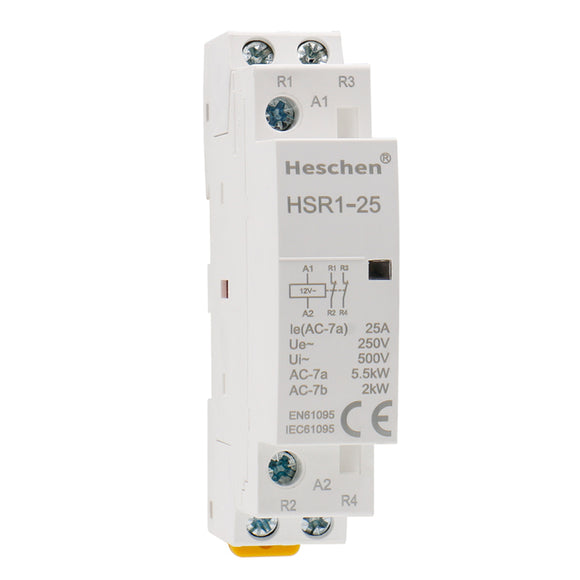 Household AC Contactor HSR1-25 25A 2P NC Normally Closed