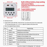 Digital LCD Power Weekly Programmable Timer Relay Switch CN101A AC 220V-240V 16 Amp SPST with Waterproof Cover
