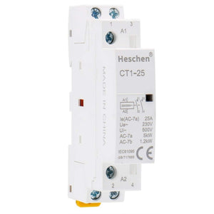 Household AC Contactor CT1-25 2 Pole 2 Normally Open 220V/230V Coil Voltage 35 mm DIN Rail Mount