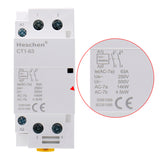 Household AC Contactor CT1-63 63A 2 Pole NO