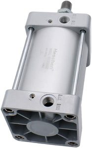 "Heschen Pneumatic Air Cylinder SC 125 Series PT 1/2 Port 125mm(5"") Bore Screwed Piston Rod Dual Action with 2 Fittings"