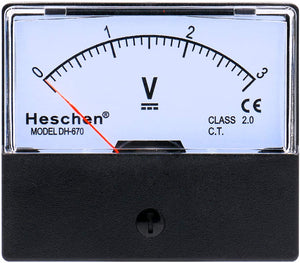 Rectangle Panel Mounted Current Meter Ammeter