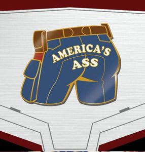 Captain America Pin: That's America's Ass